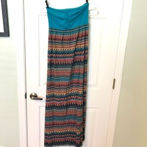 Roxy strapless maxi dress